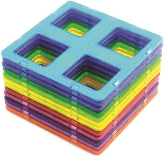 Magnetická stavebnice MAGFORMERS Mřížky 12 ks ve fólii