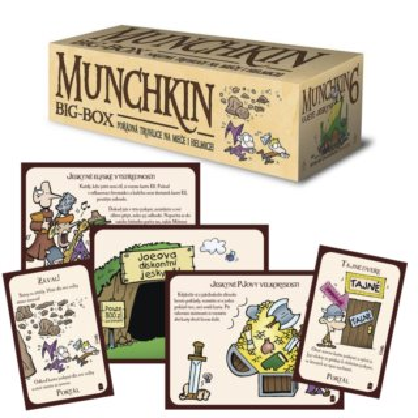 BLACKFIRE Karetní hra Munchkin: Big Box - Pořádná truhlice na meče a helmice (6. rozšíření)