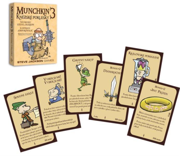 BLACKFIRE Karetní hra Munchkin: Kněžské poklesky (3. rozšíření)