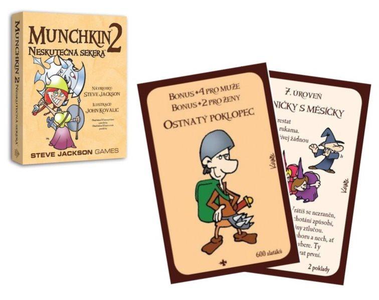 BLACKFIRE Karetní hra Munchkin: Neskutečná sekera (2. rozšíření)