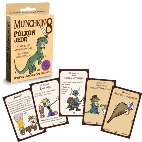 BLACKFIRE Karetní hra Munchkin: Půlkůň jede (8. rozšíření)