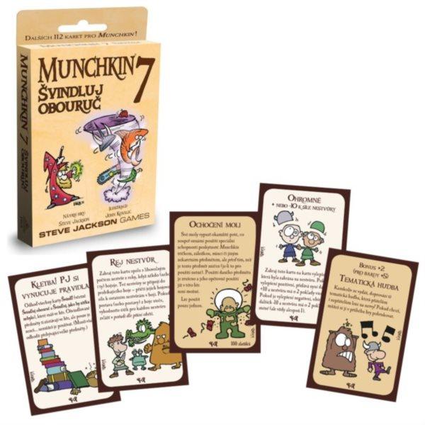 BLACKFIRE Karetní hra Munchkin: Švindluj obouruč (7. rozšíření)