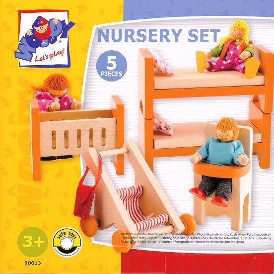WOODY Nábytek do domečku: Dětský pokoj