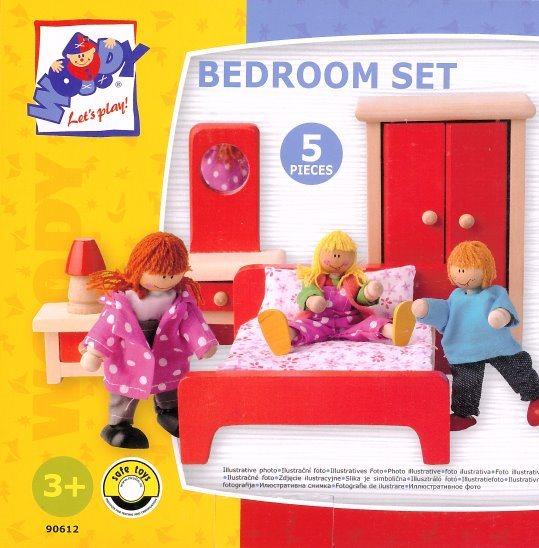 WOODY Nábytek do domečku: Ložnice