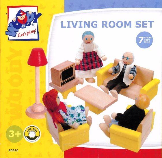 WOODY Nábytek do domečku: Obývací pokoj