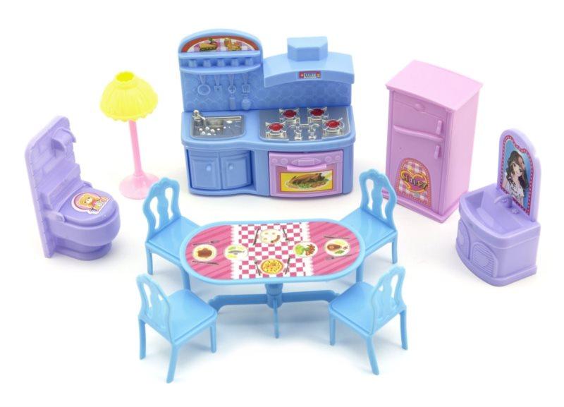 Nábytek pro panenky - Kuchyně a koupelna
