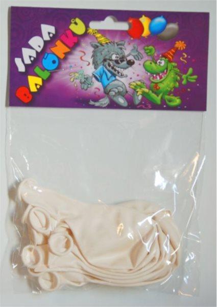 Nafukovací balónky - bílé - sada 13 ks