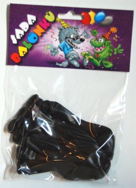 Nafukovací balónky - černé - sada 13 ks