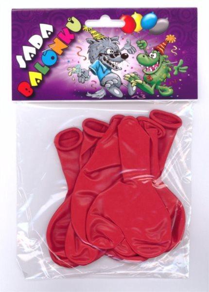 Nafukovací balónky - srdce - sada 7 ks (červené)