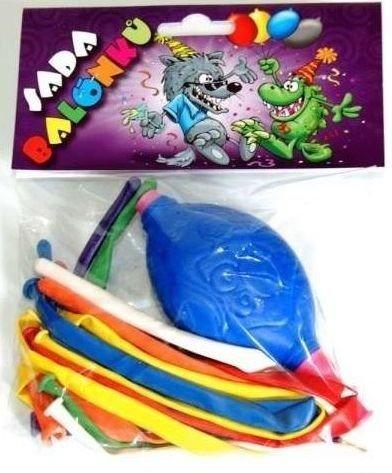 Nafukovací modelovací balónky s pumpičkou 8 ks