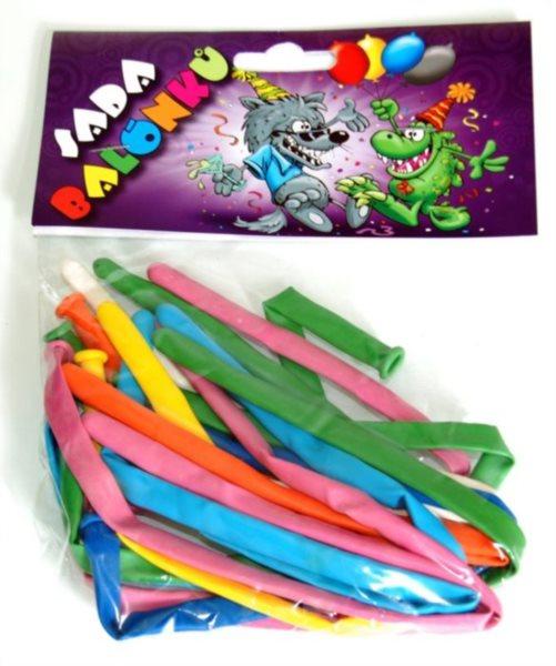 Nafukovací balónky modelovací - sada 12 ks (mix barev)