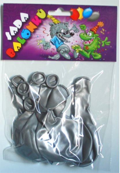 Nafukovací balónky - stříbrné - sada 10 ks