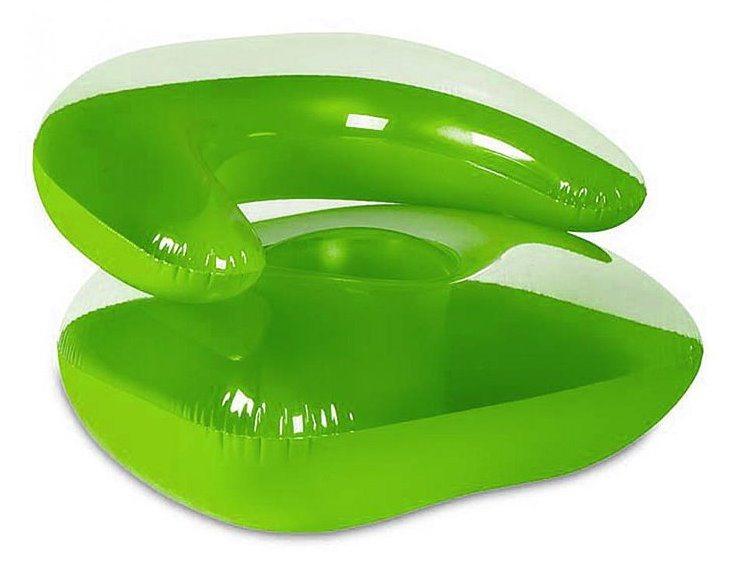 BESTWAY Nafukovací křeslo zelené transparetní