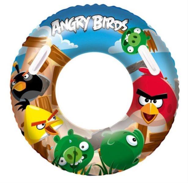 BESTWAY Nafukovací kruh s úchyty Angry Birds 91 cm