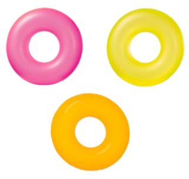 INTEX Nafukovací kruh Neonový 91 cm