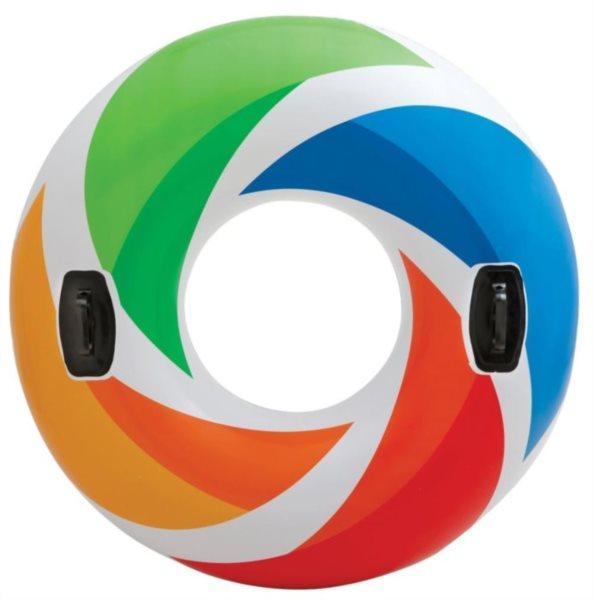 INTEX Nafukovací kruh s madly - Barevný