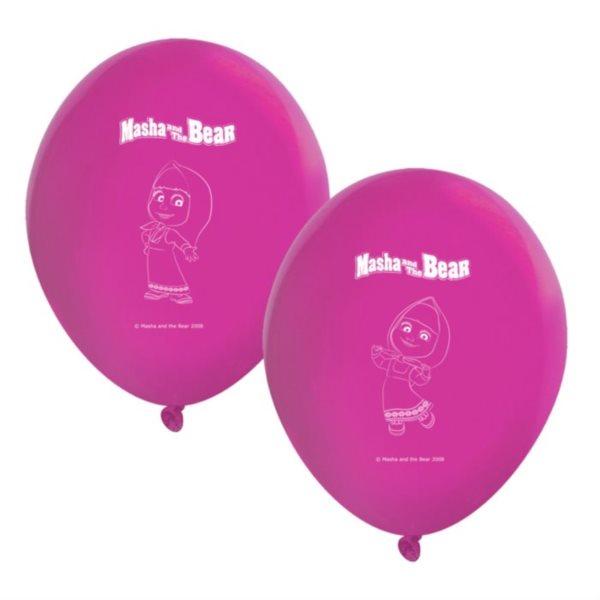 Nafukovací balónky Máša a medvěd 8ks
