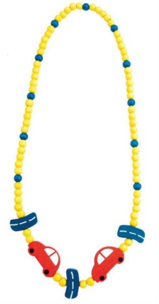 BINO Dřevěný náhrdelník: Auta