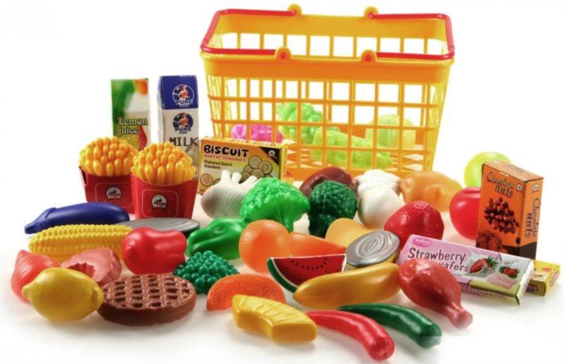 LAMPS Potraviny v nákupním košíku (ovoce a zelenina)