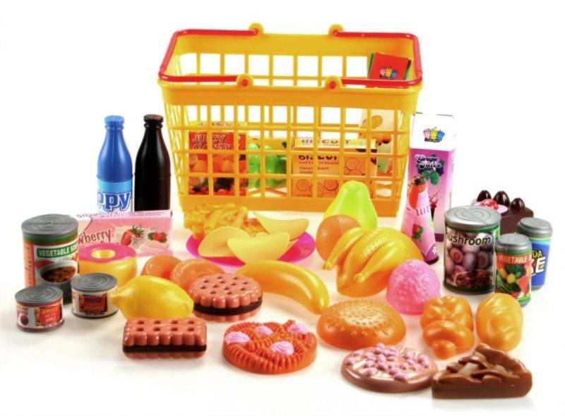 Potraviny v nákupním košíku (sladkosti)