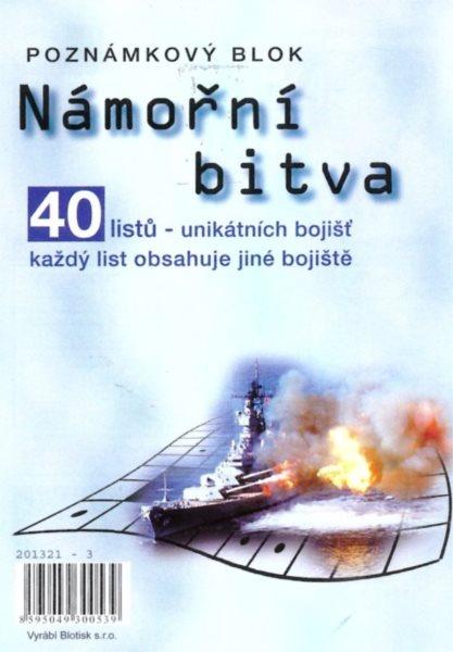 Námořní bitva - poznámkový blok