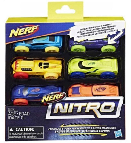 poškozený obal: NERF NITRO: Náhradní autíčka (6 ks)