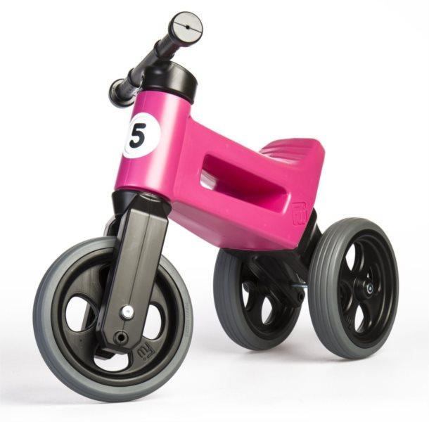 TEDDIES Odrážedlo Funny Wheels Sport 2v1 růžové