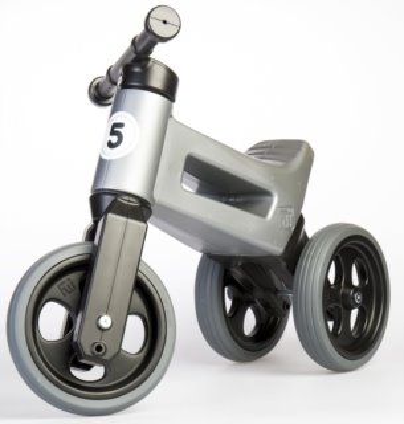 TEDDIES Odrážedlo Funny Wheels Sport 2v1 šedé