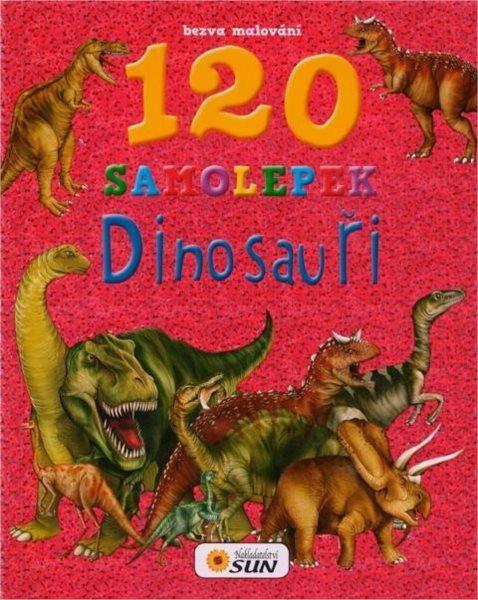 Kniha: Omalovánky s dinosaury + 120 samolepek, Nakladatelství SUN