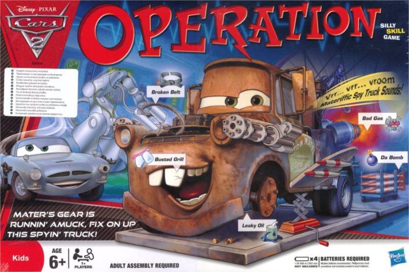 Dětská hra Operace Auta 2 (Operation Cars 2), HASBRO