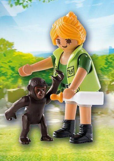 Ošetřovatelka s gorilím mládětem 9074