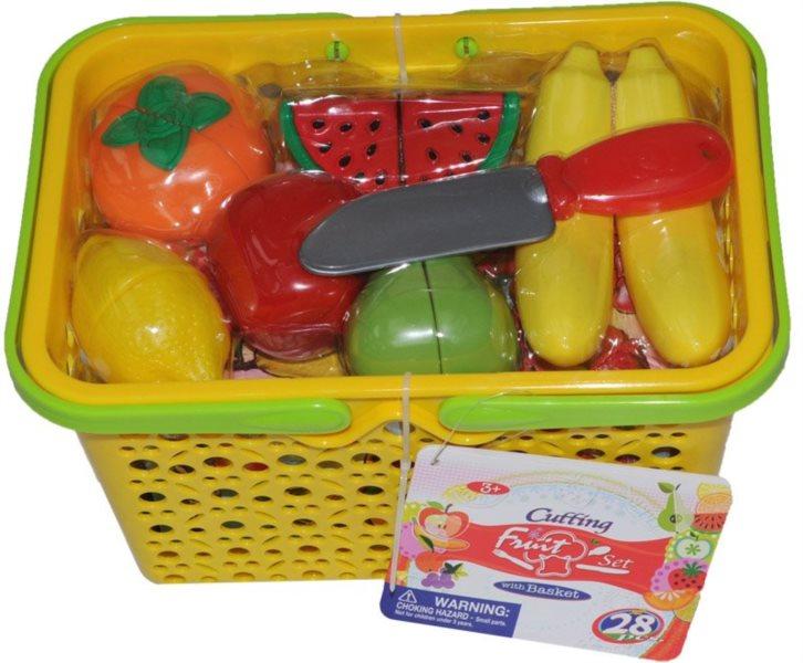 Ovoce v nákupním košíku 28 ks