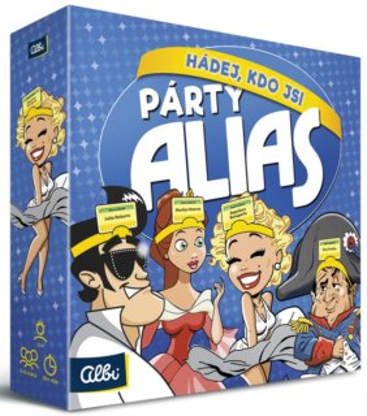 ALBI Zábavná hra Párty Alias Hádej, kdo jsi