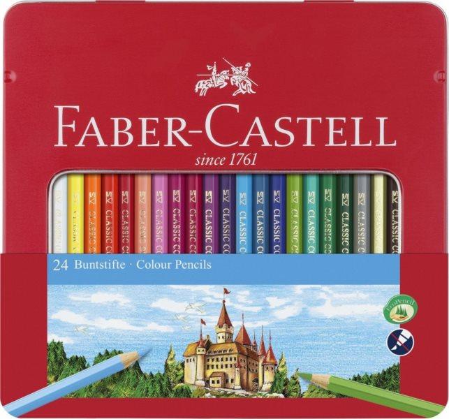Faber-Castell Pastelky 24ks v plechovém pouzdře
