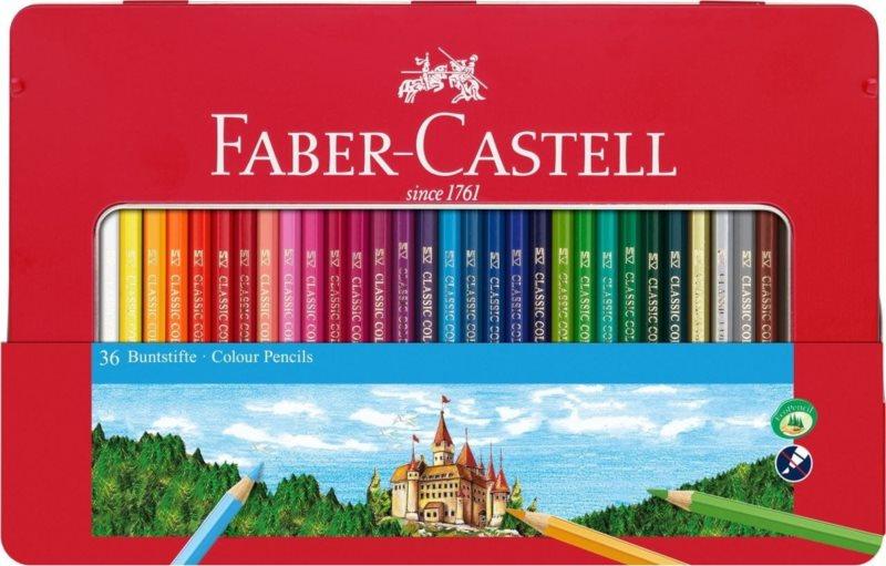 Faber-Castell Pastelky 36ks v plechovém pouzdře