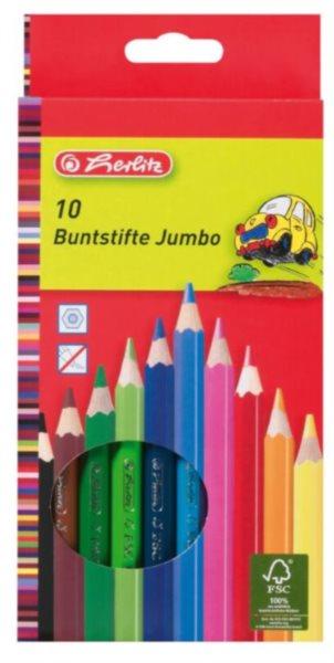 HERLITZ Pastelky Jumbo 10 barev (silné)