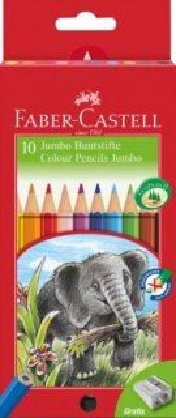 Faber-Castell Pastelky Jumbo 10ks + ořezávátko