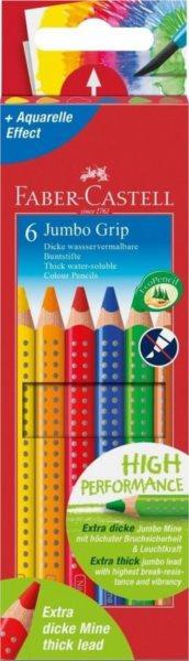 Faber-Castell Pastelky Jumbo Grip 6ks