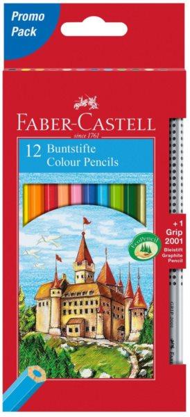 Faber-Castell Pastelky 12ks + tužka