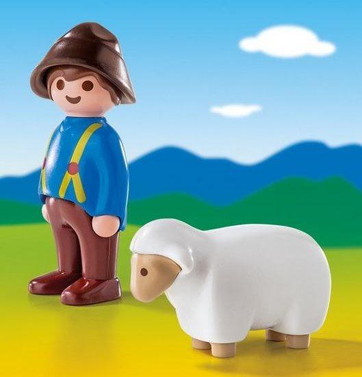 Playmobil 6974 Pastýř a ovečka (1.2.3)