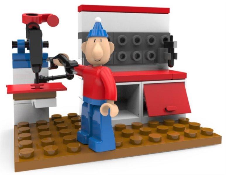 Stavebnice SLUBAN Pat a Mat v dílně