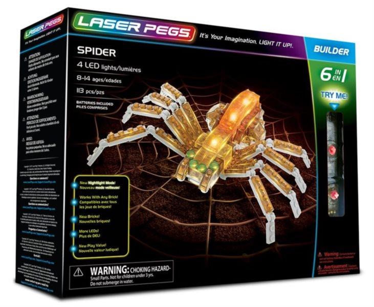Svítící stavebnice LASER PEGS Pavouk 6v1