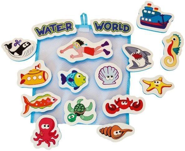 Dětské vodolepky - Pěnová zvířátka s motivy vodních zvířat