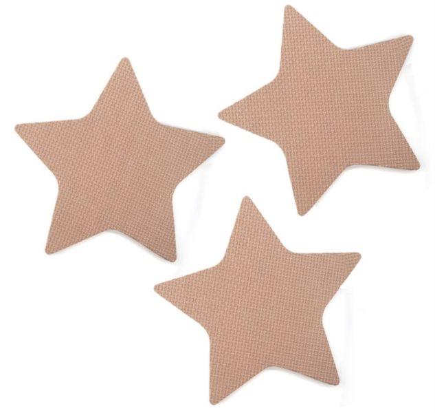 Pěnové Hvězdy - hnědé 3 ks
