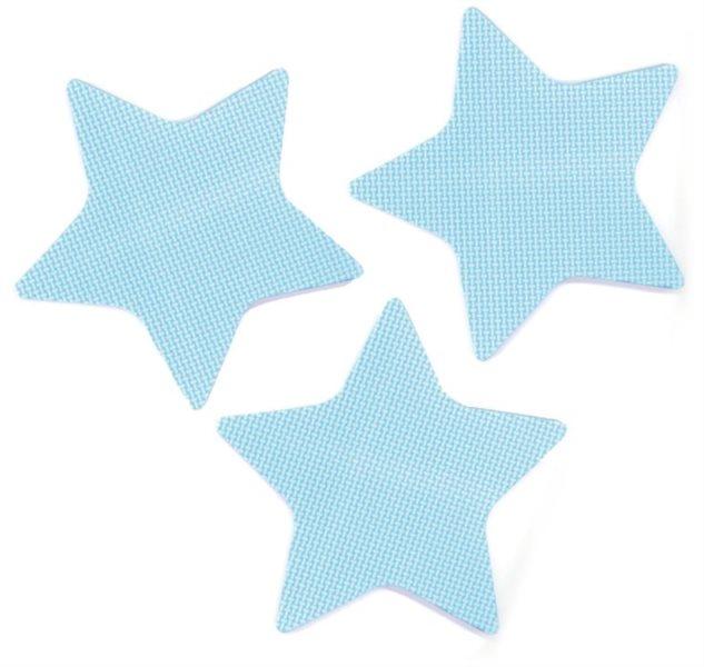 Pěnové Hvězdy - modré 3 ks
