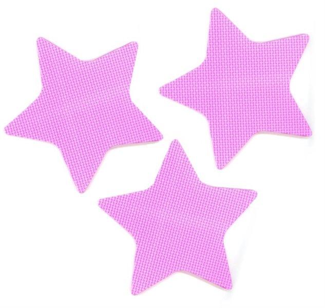 Pěnové Hvězdy - růžové 3 ks