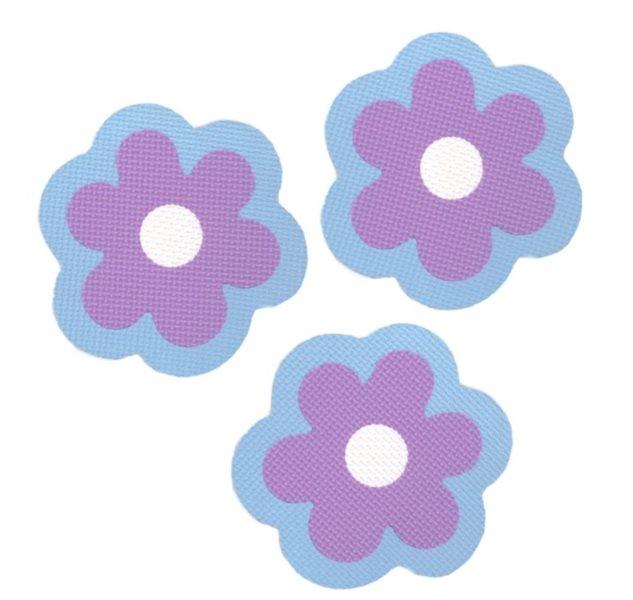 Pěnové Kytičky - fialové 3 ks