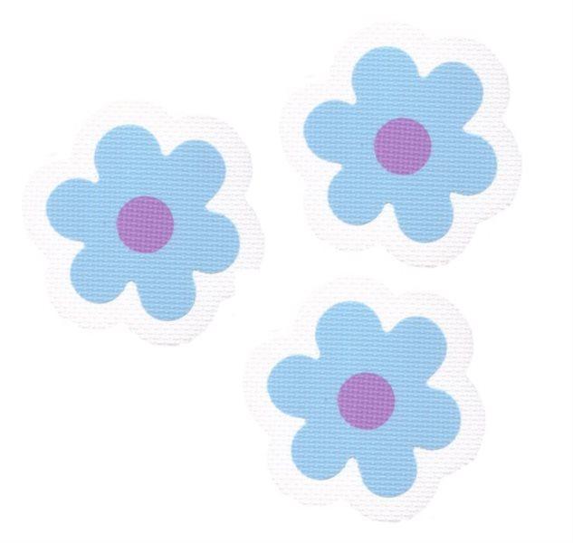 Pěnové Kytičky - modré 3 ks