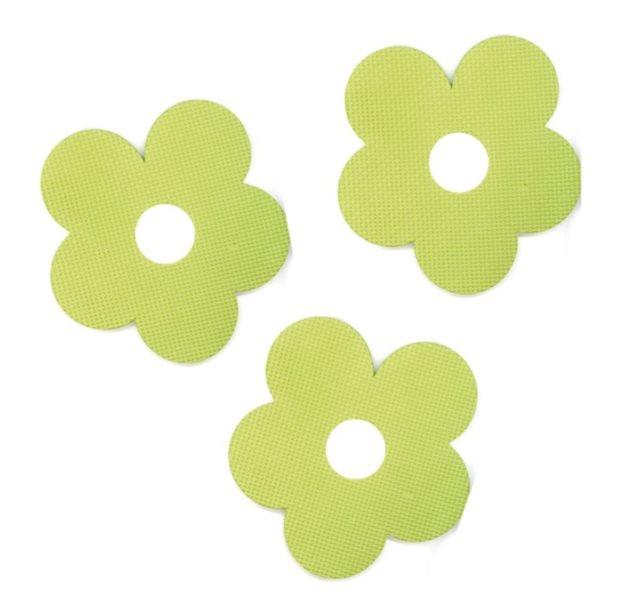 Pěnové Kytičky - zelené 3 ks
