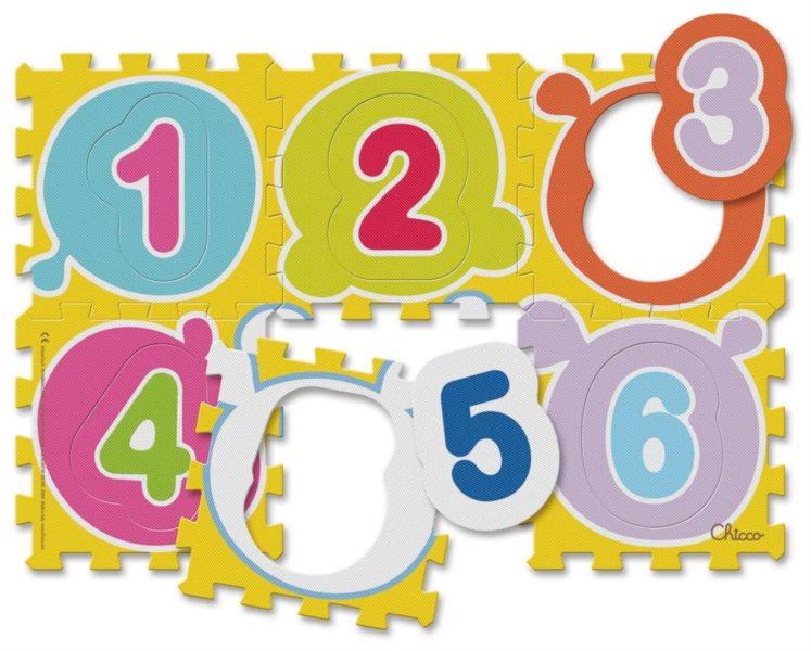 CHICCO Pěnové puzzle Barevné číslice 12+